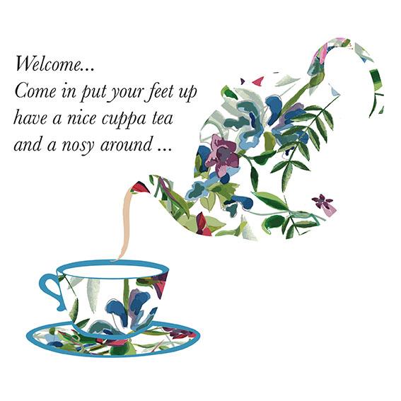 Tea Pot Flower Design