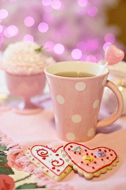 Pink Mug and Biscuits Photo