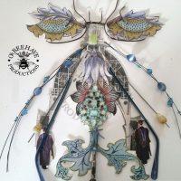 Eyelash Dragon Fly, handmade
